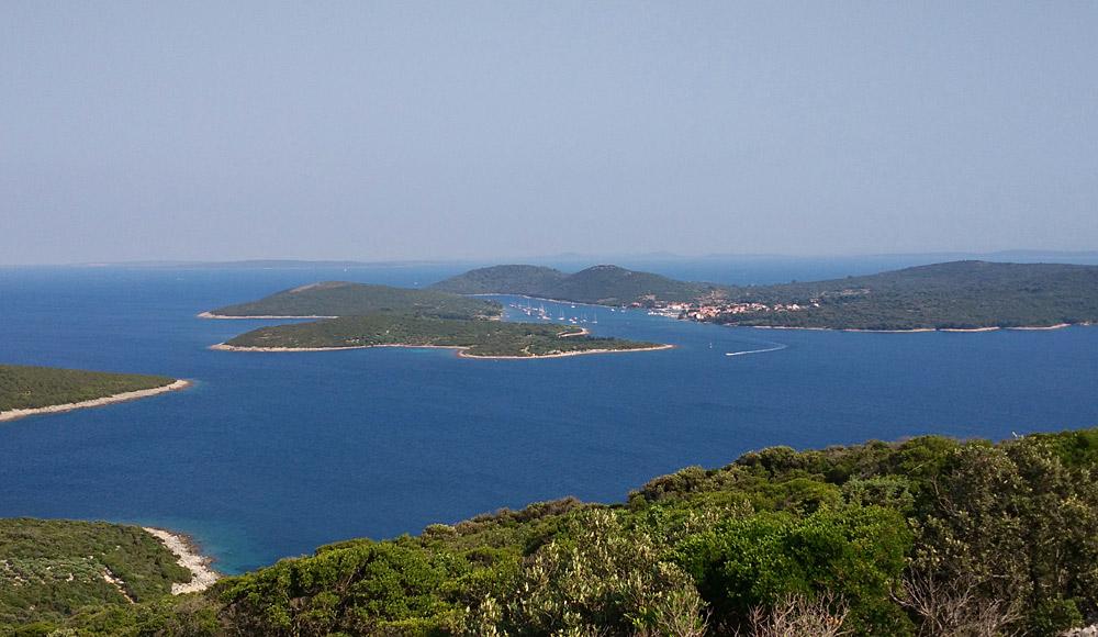 Pogled na ostrvo Ilovik