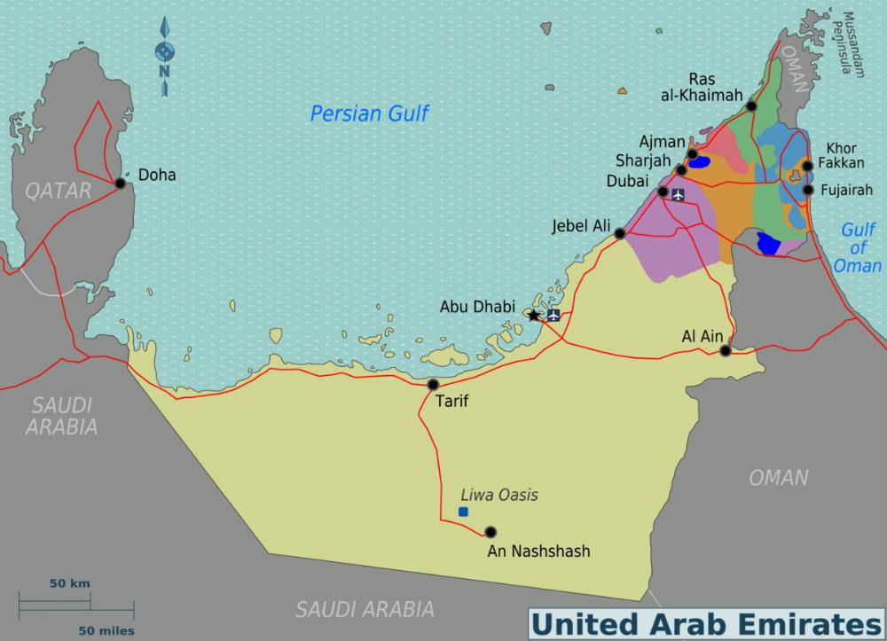 Po čemu je poznat Abu Dabi? 01-UAEMapa